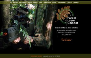 Pagina Web Forest laser combat