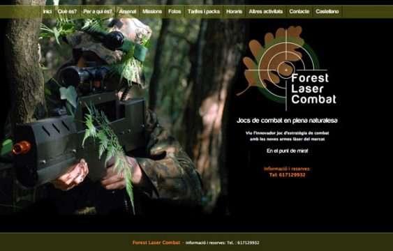 Pagina Web Forest laser combat