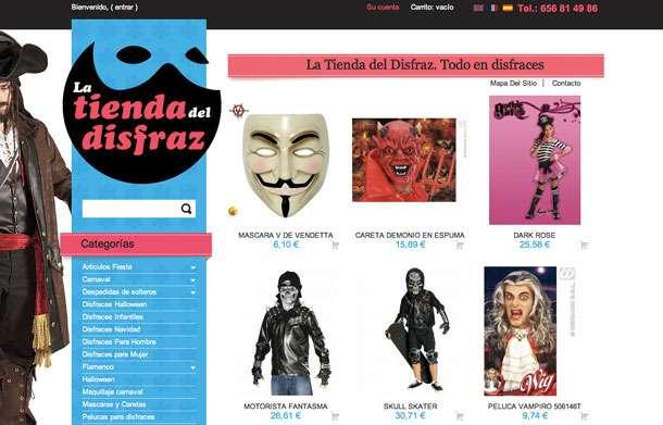 página web masaje disfraz