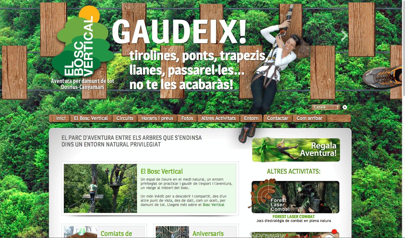 Pagina Web El bosc vertical