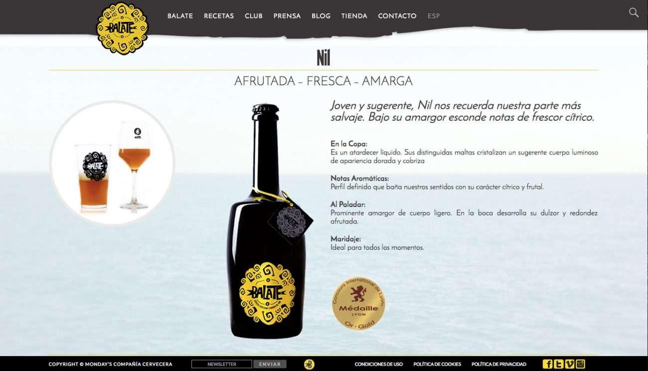 Página web de producto