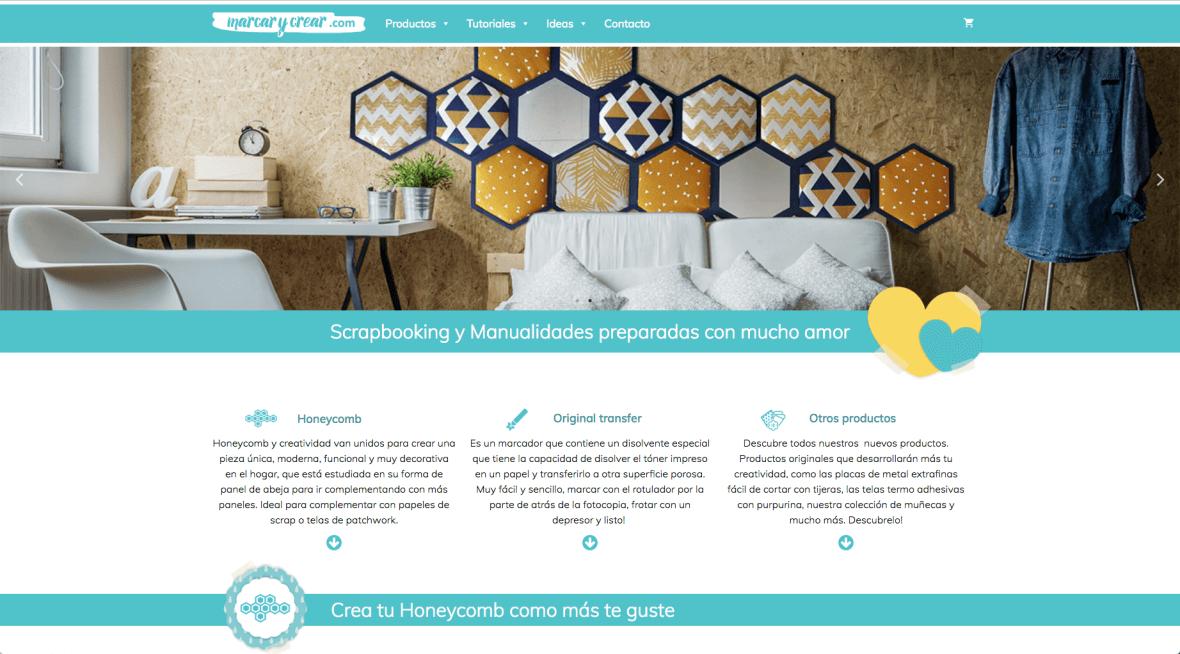 Página web de manualidades handcraft