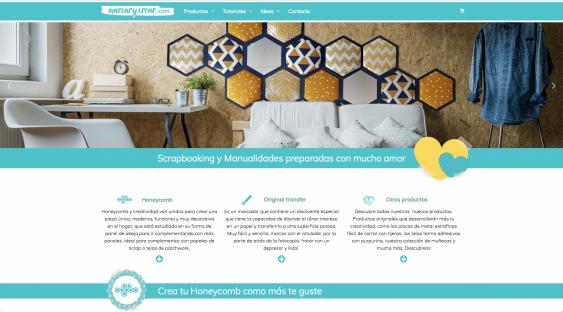 Página web de productos de decoración