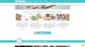Organización en página web con los productos principales
