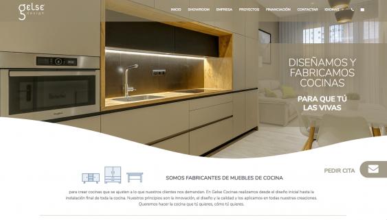 Diseño de página web de cocinas